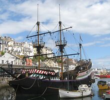 The Golden Hind - Brixham / England by Jacqueline Turton