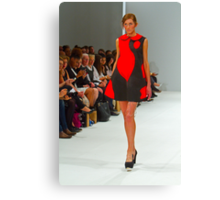 2013 FAD Junior Awards. A model wears a design by  Rebecca George Canvas Print