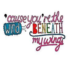 Wind Beneath My Wings Lyric Art by smexytragedy