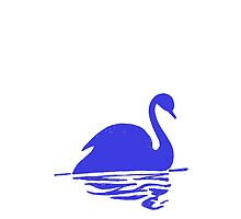 Blue Swan Silhoutte by kwg2200