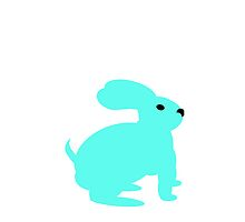 Light Blue Bunny by kwg2200