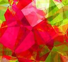Crape Myrtle Abstract Polygons 1 by Christopher Johnson