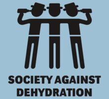 Society Against Dehydration (Black) by MrFaulbaum