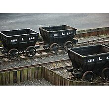 Old Railway Storage Cars Photographic Print