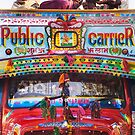 Colorful Public Bus In India by printscapes