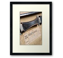 Old Fashioned Suitcase Framed Print