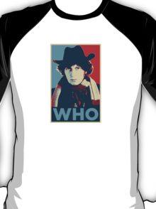 Doctor Who Tom Baker Barack Obama Hope style poster T-Shirt