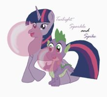 Twilight Sparkle and Spike - Bubblegum Love by agrabau