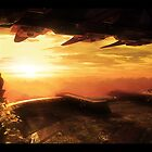 Sunset at Eloran Outpost by Raelsatu