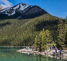 Admiring Lake Louise, Alberta, Canada by Gerda Grice