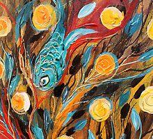 Original painting fragment 53 by Elena Kotliarker