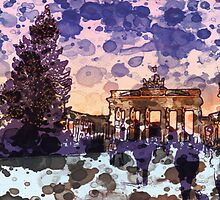 Brandenburg Gate at Christmas by GryffinDesigns
