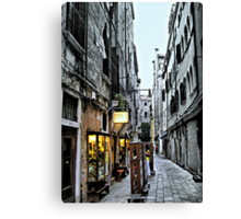 Venice Back Street Canvas Print