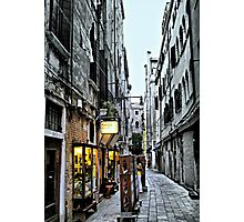 Venice Back Street Photographic Print