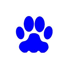 Blue Big Cat Paw Print by kwg2200