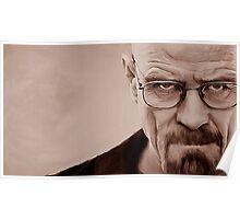 'The Danger' Handpainted Heisenberg Portrait (Sepia) Poster