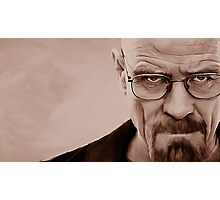 'The Danger' Handpainted Heisenberg Portrait (Sepia) Photographic Print