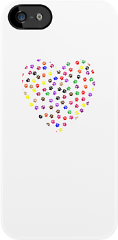 paw print love heart by SamanthaMirosch