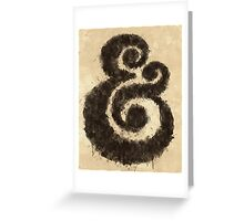 Ink Ampersand Greeting Card