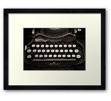 Vintage Typewriter Keyboard Framed Print