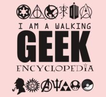 I'm a walking GEEK Encyclopedia Kids Clothes