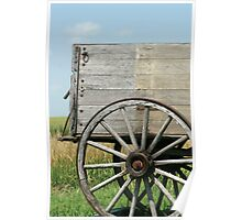 Rear Wagon Wheel Poster