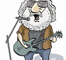 Jerry Garcia by MacKaycartoons