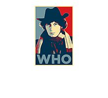 Doctor Who Tom Baker Barack Obama Hope style poster Photographic Print