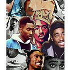 2PAC KING COLLAGE IPHONE CASE by DopeDesigns