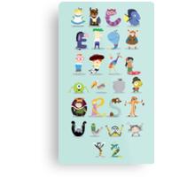 Animated characters abc Metal Print