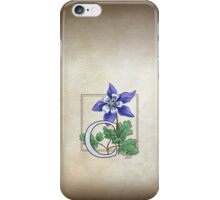 C is for Columbine - full image iPhone Case/Skin