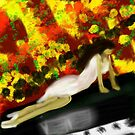 Girl on Piano by Alison Pearce