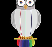 Rainbow Owl (black) by Adamzworld