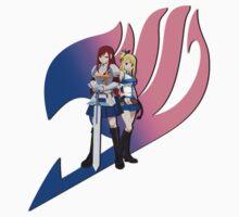Fariy Tail Anime Erza & Lucy  by Jonathan Masvidal