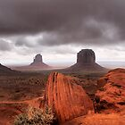 Storm clouds over Monument Valley by Robyn Lakeman