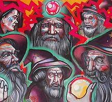 pack of neon wizards. by resonanteye