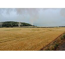 Countryside from a steam train Photographic Print