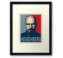 Obamized Mr Heisenberg (Red) Framed Print