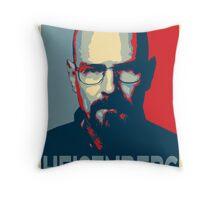 Obamized Mr Heisenberg (Red) Throw Pillow