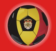 Belgium - Belgian Flag - Football or Soccer by graphix