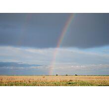 Double Rainbow on Kansas Prairie Photographic Print