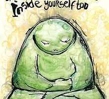 Green Monster Inspirational Message by wolfishWorks