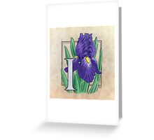 I is for Iris - full image Greeting Card