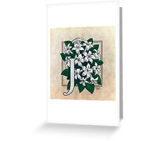 J is for Jasmine - full image Greeting Card
