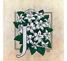 J is for Jasmine - full image Photographic Print