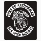 Sons of Anchorman (Sticker) by Brandon Wilhelm