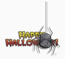 Halloween Marshmallow Spider Sticker by mallowkitty
