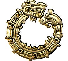 Aztec Serpent Quetzalcoatl 3d [Gold]   by Captain7