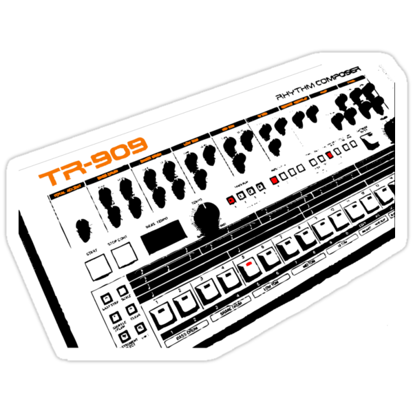 Roland TR-909 T-Shirt by retrorebirth