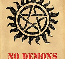 Supernatural - No Demons Allowed [BLACK] by Styl0